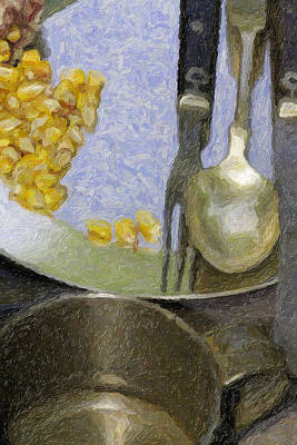 Tableware Digital Art - Eating Utensils-one by David Allen Pierson
