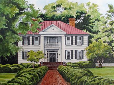 Painting - Eatonton Georgia Residence by Richard Devine