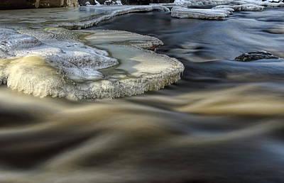 Photograph - Eau Claire Dells Park River Ice by Dale Kauzlaric