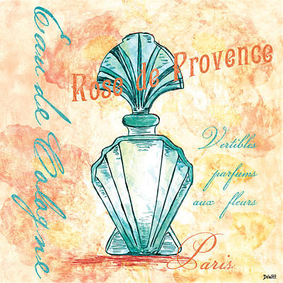 Perfume Bottles Painting - Eau De Cologne by Debbie DeWitt