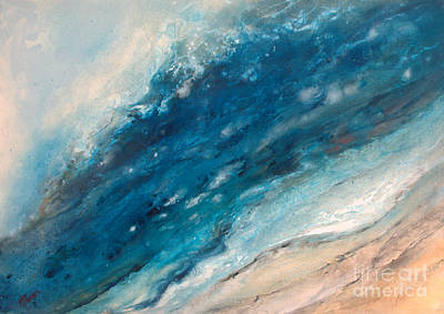 Ebb And Flow Art Print by Valerie Travers