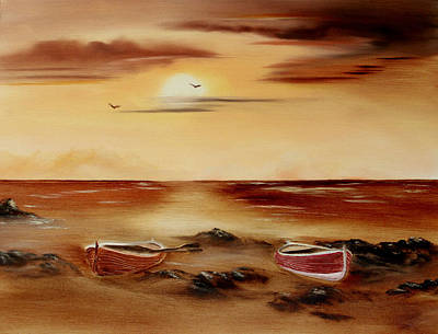 Cynthia-adams-uk Painting - Ebb Tide And Stranded by Cynthia Adams