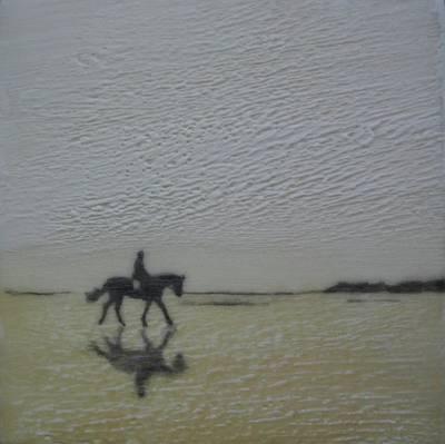 Encaustic Horse Painting - Ebb Tide by Nicki Stewart