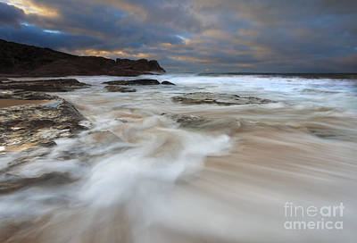 Knights Beach Photograph - Ebbtide Sunrise by Mike Dawson