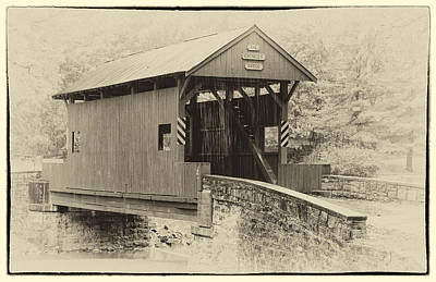 Photograph - Ebenezer Covered Bridge Washington County Pennesylvania Antique Img 8942 by Greg Kluempers