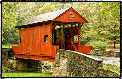 Photograph - Ebenezer Covered Bridge Washington County Pennesylvania Color Img 8942 by Greg Kluempers