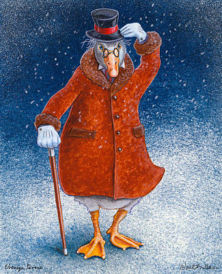 Ebenezer Goose... Art Print by Will Bullas