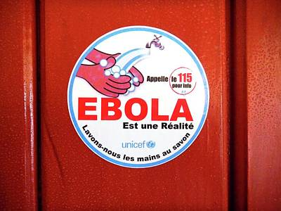 Hand Washing Photograph - Ebola Hygiene Information Sign by Dr. Heidi Soeters/cdc
