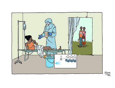 Ebola Treatment Unit Art Print by Cdc