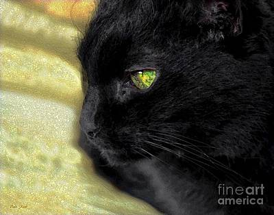 Balck Art Digital Art - Ebony by Dale   Ford