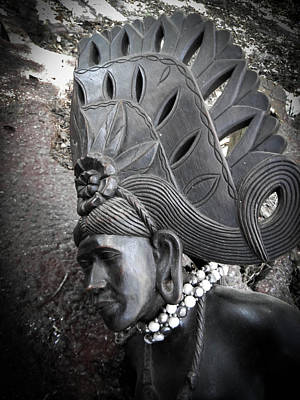 Photograph - Ebony Headdress In Profile by Christy Usilton