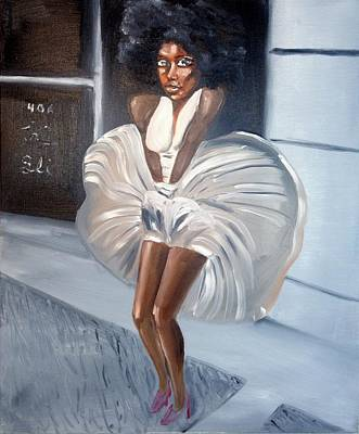 Aset Painting - Ebony Monroe by Sean Ivy aka Afro Art Ivy