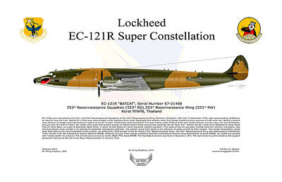 Ec-121r Batcat 6721498 Art Print by Arthur Eggers