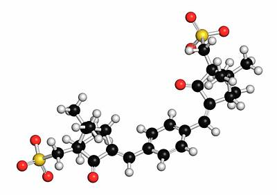 Ecamsule Sunscreen Molecule Art Print by Molekuul