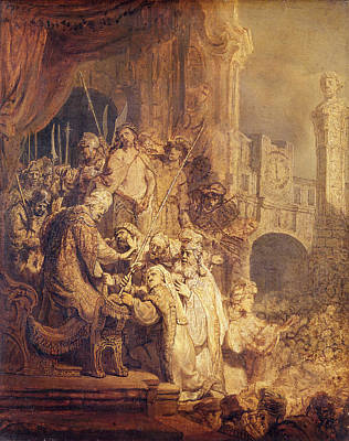 Ecce Homo, 1634 Oil On Paper Art Print