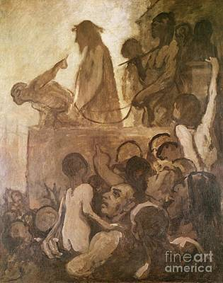 Ecce Painting - Ecce Homo by Honore Daumier