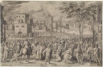 Ecce Homo, Nicolaes De Bruyn Art Print