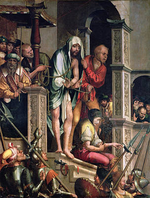 Christ Before Pilate Painting - Ecce Homo  by Cristovao de Figueiredo