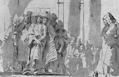Religion Drawings Drawing - Ecce Homo by Tiepolo