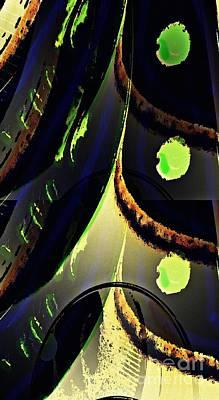 Curves Digital Art - Echoes by Sarah Loft