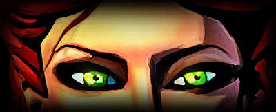 Echo's Eyes Art Print by Persephone Artworks