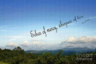 Photograph - Echos Of Mercy by Sandra Clark