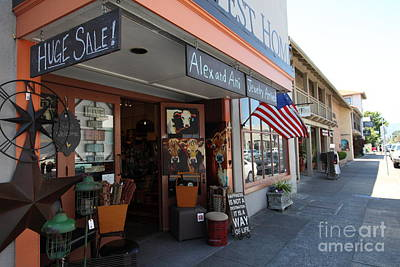 Eclectic Americana Storefront In Downtown Sonoma California 5d24475 Art Print by Wingsdomain Art and Photography