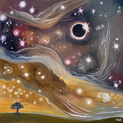 Solar Eclipse Painting - Eclipse by Cedar Lee