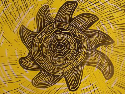 Eclipse Of The Sun In Yellow Original by Stephen Wiggins
