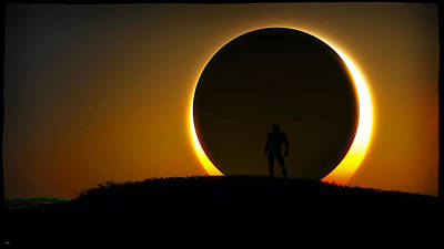 Digital Art - Eclipse... by Tim Fillingim