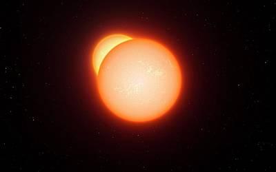 Eclipsing Binary Star System Art Print by Eso/l. Calcada