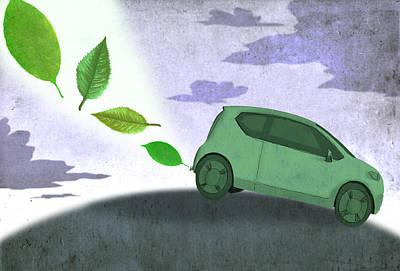 Eco Car Art Print by Steve Dininno