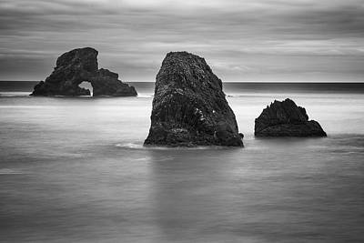 Photograph - Ecola Rocks by Brian Bonham