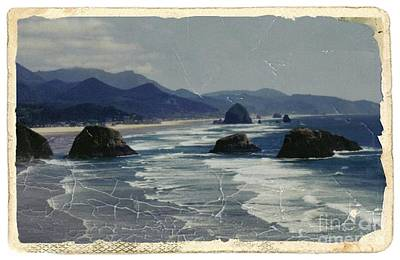 Mixed Media - Ecola Sea Stacks by Chalet Roome-Rigdon