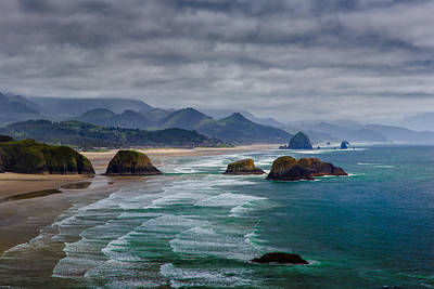 Mountain Royalty-Free and Rights-Managed Images - Ecola Viewpoint by Rick Berk