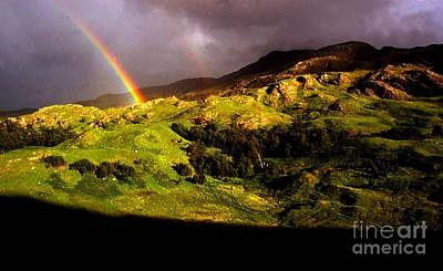 Ecossedouble Rainbow In Scotland  Print by Stephane Migaud