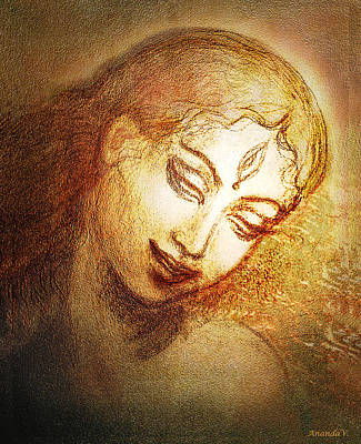 Goddess Durga Mixed Media - Ecstasy  by Ananda Vdovic