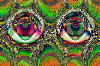 Digital Art - Ecstasy Eyes by Kiki Art