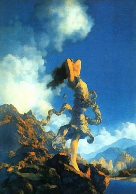 Mountians Photograph - Ecstasy by Maxfield Parrish