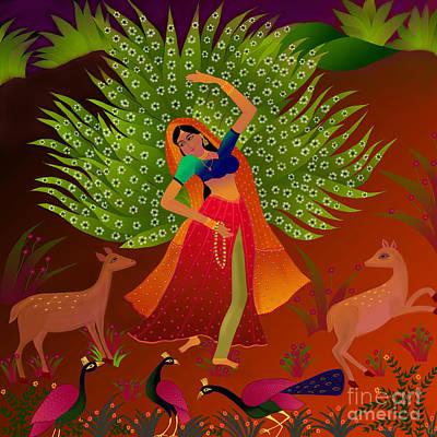 Art Print featuring the digital art Ecstasy-ragamala by Latha Gokuldas Panicker