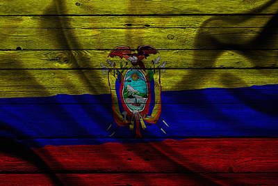 Flag Pole Photograph - Ecuador by Joe Hamilton
