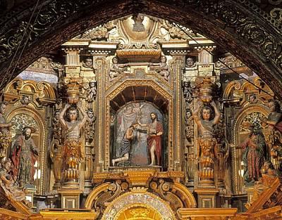 Baptizing Photograph - Ecuador. Quito. Convent Of San by Everett