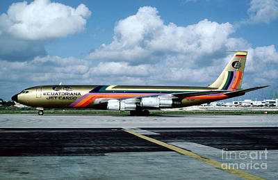 Fixed Wing Multi Engine Photograph - Ecuatoriana Jet Cargo Boeing 707-321c Hc-bgp by Wernher Krutein