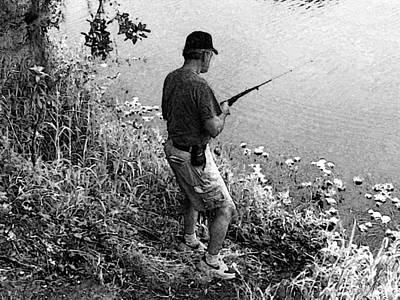 Ed Fishing Print by Lenore Senior and Sharon Burger