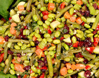 Romaine Photograph - Edamame Salad by Science Source
