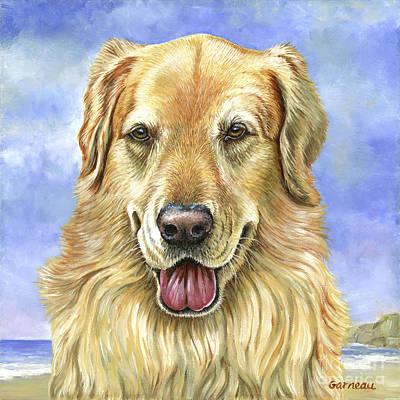 Dogs On Beach Painting - Eddie by Catherine Garneau