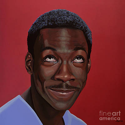 Black Man Painting - Eddie Murphy Painting by Paul Meijering