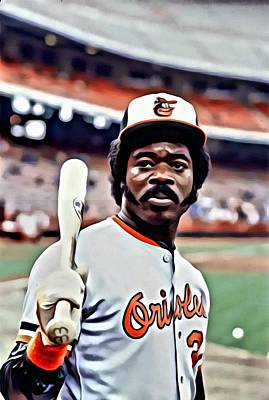 National Painting - Eddie Murray by Florian Rodarte