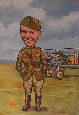 Print featuring the painting Eddie Rickenbacker by Murray McLeod