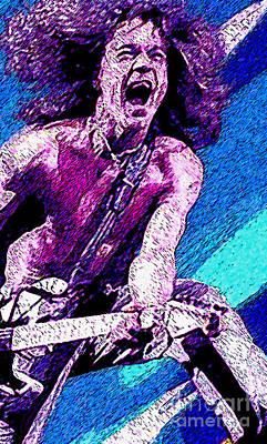 Van Halen Painting - Eddie Van Halen - Hot For Teacher by John Travisano